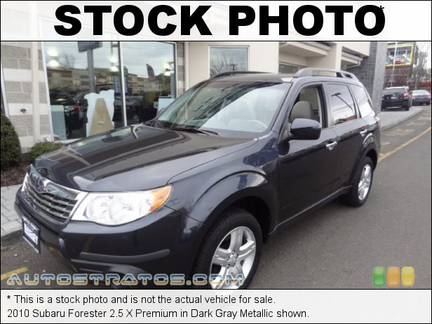 Stock photo for this 2010 Subaru Forester 2.5 X Premium 2.5 Liter SOHC 16-Valve VVT Flat 4 Cylinder 4 Speed Sportshift Automatic