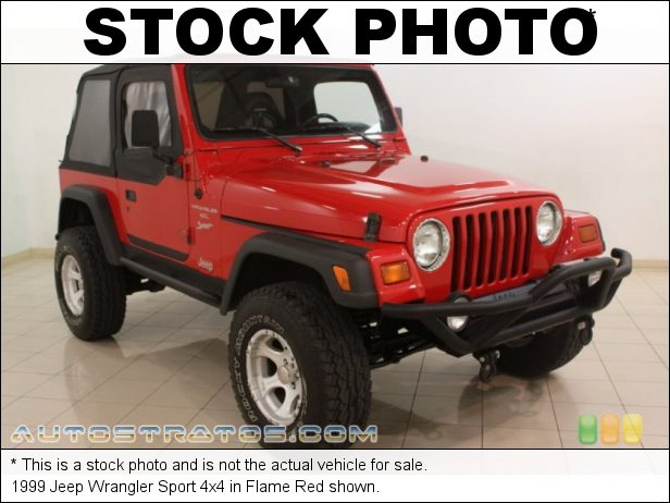 Stock photo for this 1999 Jeep Wrangler Sport 4x4 4.0 Liter OHV 12-Valve Inline 6 Cylinder 5 Speed Manual