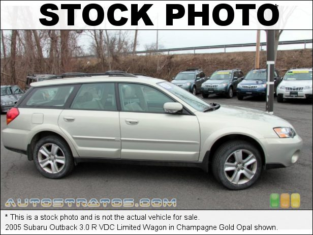Stock photo for this 2005 Subaru Outback 3.0 R VDC Limited Wagon 3.0 Liter DOHC 24-Valve Flat 6 Cylinder 5 Speed Automatic