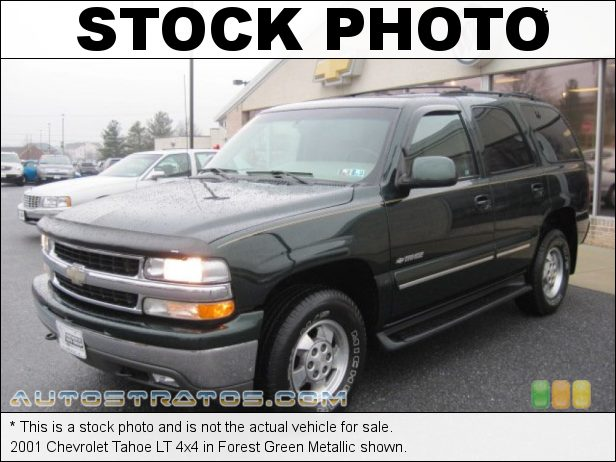 Stock photo for this 2001 Chevrolet Tahoe LT 4x4 5.3 Liter OHV 16-Valve Vortec V8 4 Speed Automatic