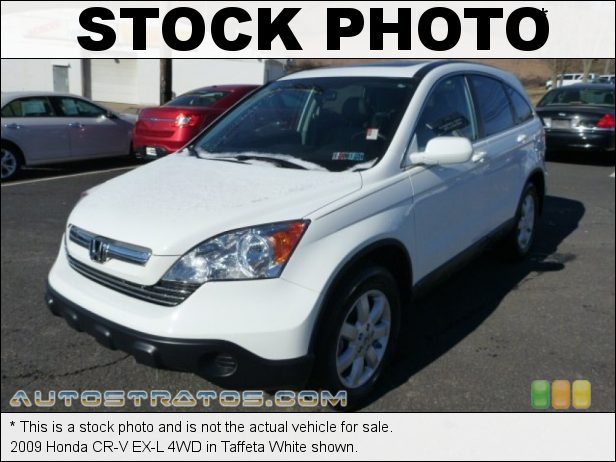 Stock photo for this 2009 Honda CR-V EX-L 4WD 2.4 Liter DOHC 16-Valve i-VTEC 4 Cylinder 5 Speed Automatic