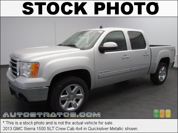 Stock photo for this 2013 GMC Sierra 1500 SLT Crew Cab 4x4 5.3 Liter Flex-Fuel OHV 16-Valve VVT Vortec V8 6 Speed Automatic