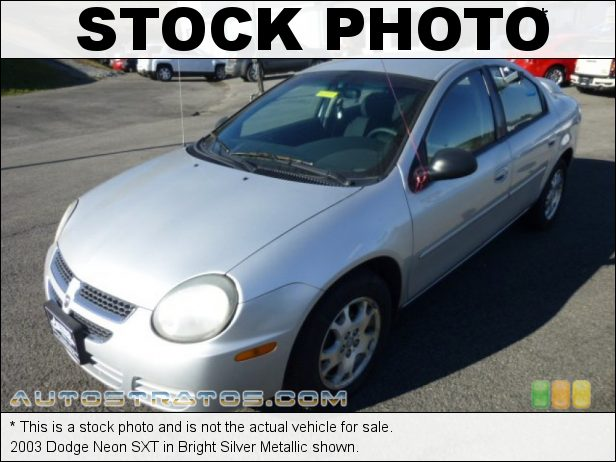 Stock photo for this 2003 Dodge Neon SXT 2.0 Liter SOHC 16-Valve 4 Cylinder 5 Speed Manual