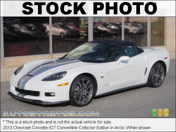Stock photo for this 2013 Chevrolet Corvette 427 Convertible Collector Edition 7.0 Liter/427 cid OHV 16-Valve LS7 V8 6 Speed Manual
