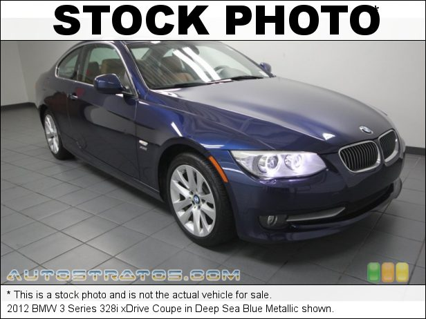Stock photo for this 2012 BMW 3 Series 328i xDrive Coupe 3.0 Liter DOHC 24-Valve VVT Inline 6 Cylinder 6 Speed Manual
