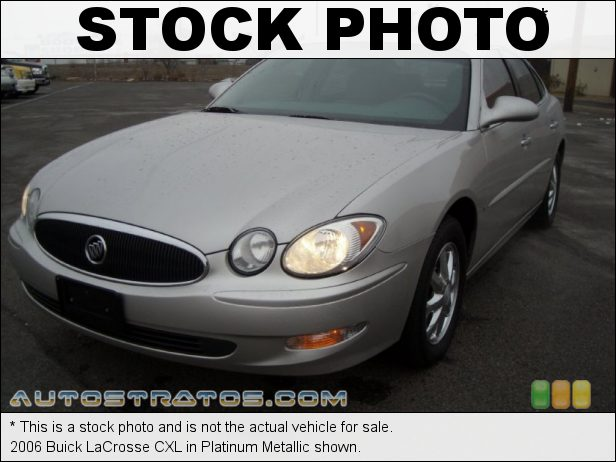 Stock photo for this 2006 Buick LaCrosse CXL 3.8 Liter OHV 12-Valve 3800 Series III V6 4 Speed Automatic