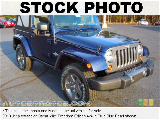 Stock photo for this 2013 Jeep Wrangler 4x4 3.6 Liter DOHC 24-Valve VVT Pentastar V6 6 Speed Manual