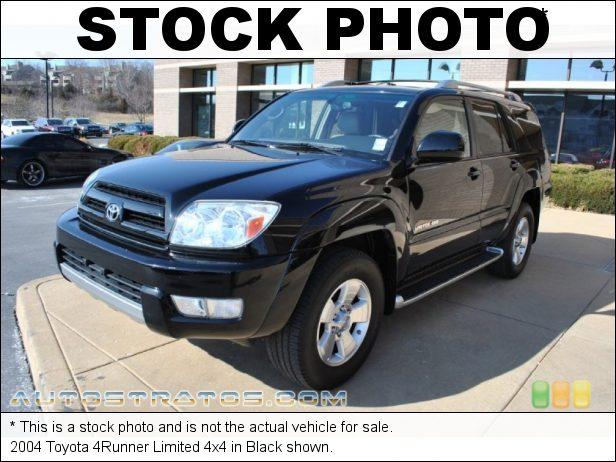 Stock photo for this 2004 Toyota 4Runner Limited 4x4 4.0 Liter DOHC 24-Valve VVT-i V6 4 Speed Automatic