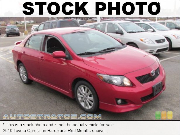 Stock photo for this 2010 Toyota Corolla  1.8 Liter DOHC 16-Valve Dual VVT-i 4 Cylinder 4 Speed Automatic