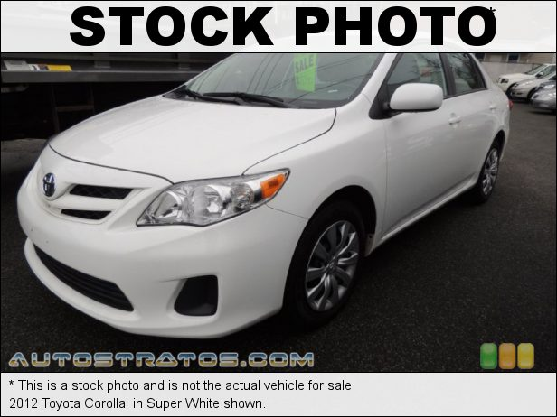 Stock photo for this 2012 Toyota Corolla  1.8 Liter DOHC 16-Valve Dual VVT-i 4 Cylinder 5 Speed Manual