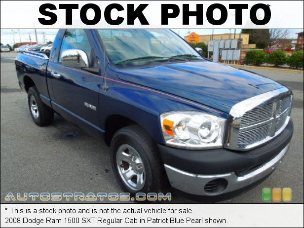 Stock photo for this 2008 Dodge Ram 1500 Regular Cab 3.7 Liter SOHC 12-Valve Magnum V6 5 Speed Automatic