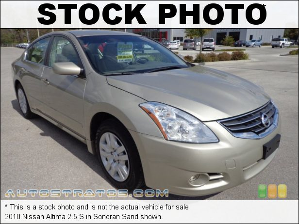 Stock photo for this 2010 Nissan Altima 2.5 S 2.5 Liter DOHC 16-Valve CVTCS 4 Cylinder Xtronic CVT Automatic