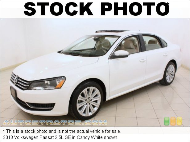 Stock photo for this 2013 Volkswagen Passat 2.5L SE 2.5 Liter DOHC 20-Valve 5 Cylinder 6 Speed Tiptronic Automatic