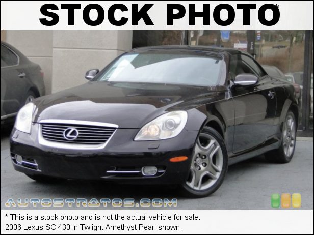 Stock photo for this 2006 Lexus SC 430 4.3 Liter DOHC 32-Valve VVT-i V8 6 Speed Automatic