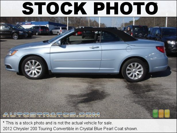 Stock photo for this 2012 Chrysler 200 Touring Convertible 3.6 Liter DOHC 24-Valve VVT Pentastar V6 6 Speed AutoStick Automatic