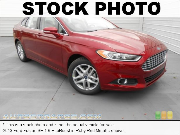 Stock photo for this 2013 Ford Fusion SE 1.6 EcoBoost 1.6 Liter EcoBoost DI Turbocharged DOHC 16-Valve Ti-VCT 4 Cylind 6 Speed SelectShift Automatic