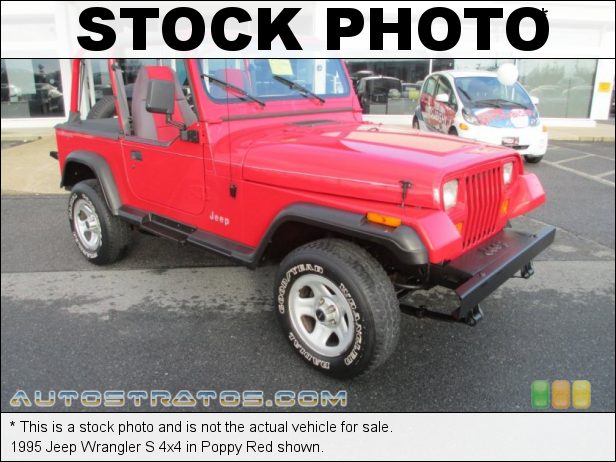 Stock photo for this 1995 Jeep Wrangler S 4x4 2.5 Liter OHV 8-Valve 4 Cylinder 5 Speed Manual