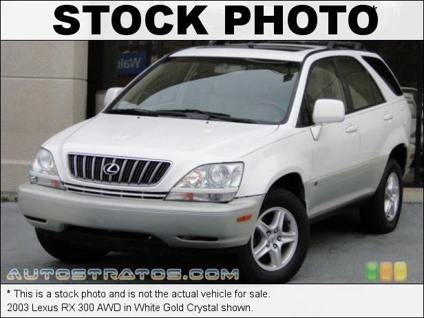 Stock photo for this 2003 Lexus RX 300 AWD 3.0 Liter DOHC 24-Valve VVT-i V6 4 Speed Automatic