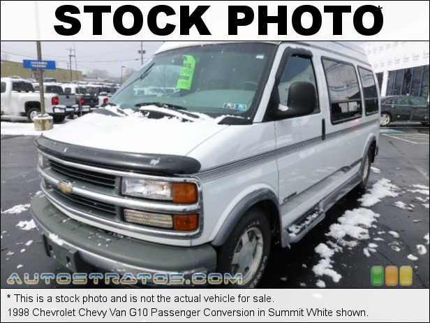 Stock photo for this 1998 Chevrolet Chevy Van G10 Passenger Conversion 5.7 Liter OHV 16-Valve V8 4 Speed Automatic