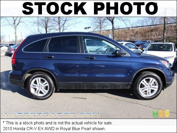 Stock photo for this 2010 Honda CR-V EX AWD 2.4 Liter DOHC 16-Valve i-VTEC 4 Cylinder 5 Speed Automatic