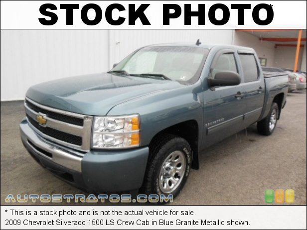 Stock photo for this 2009 Chevrolet Silverado 1500 Crew Cab 4.8 Liter OHV 16-Valve Vortec V8 4 Speed Automatic