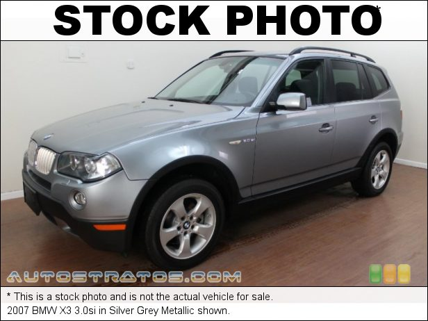 Stock photo for this 2007 BMW X3 3.0si 3.0 Liter DOHC 24-Valve Inline 6 Cylinder 6 Speed Steptronic Automatic