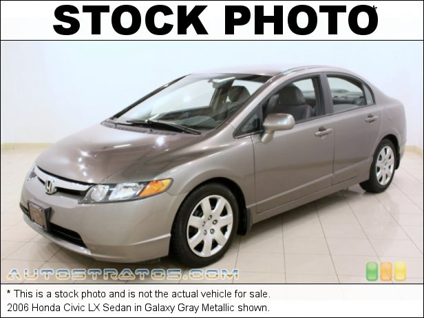 Stock photo for this 2006 Honda Civic LX Sedan 1.8L SOHC 16V VTEC 4 Cylinder 5 Speed Automatic