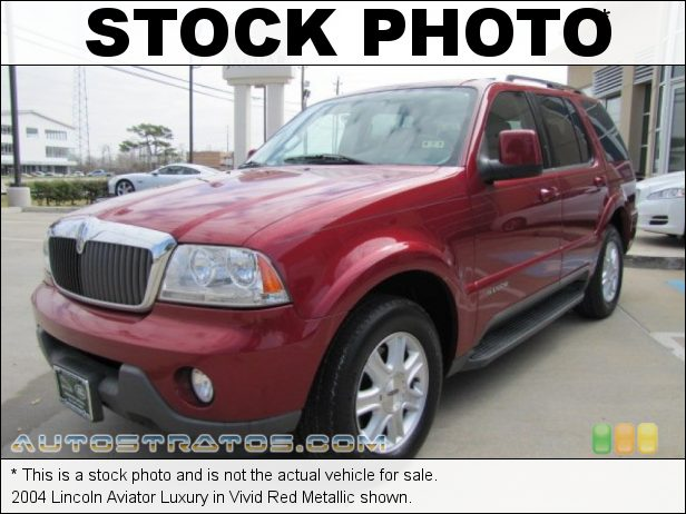 Stock photo for this 2004 Lincoln Aviator Luxury 4.6 Liter DOHC 32-Valve V8 5 Speed Automatic
