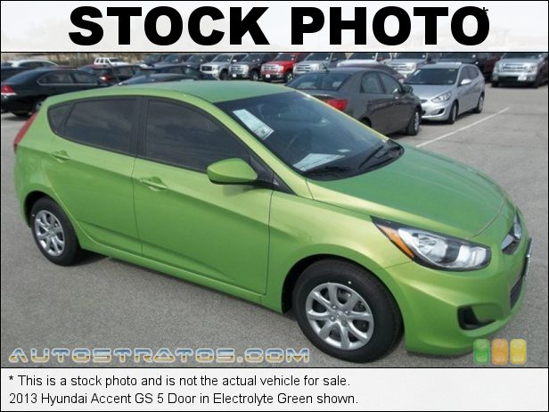 Stock photo for this 2013 Hyundai Accent GS 5 Door 1.6 Liter GDI DOHC 16-Valve D-CVVT 4 Cylinder 6 Speed Shiftronic Automatic