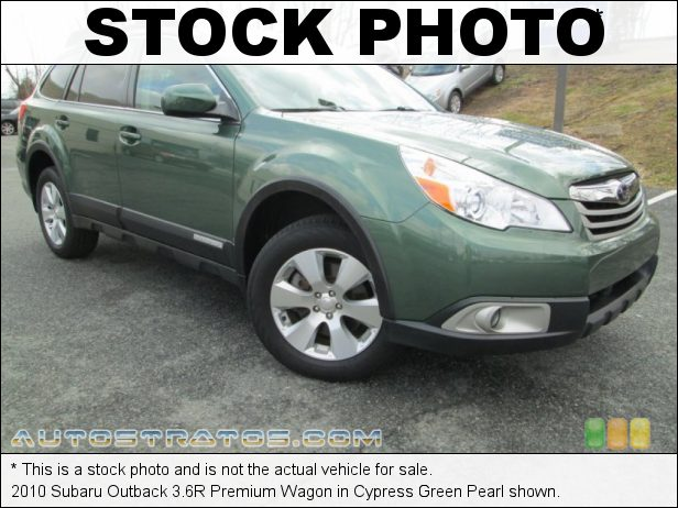 Stock photo for this 2010 Subaru Outback 3.6R Premium Wagon 3.6 Liter DOHC 24-Valve VVT Flat 6 Cylinder 5 Speed Sportshift Automatic
