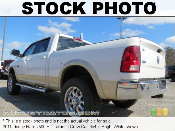 Stock photo for this 2011 Dodge Ram 2500 HD Laramie Crew Cab 4x4 6.7 Liter OHV 24-Valve Cummins VGT Turbo-Diesel Inline 6 Cylinde 6 Speed Automatic