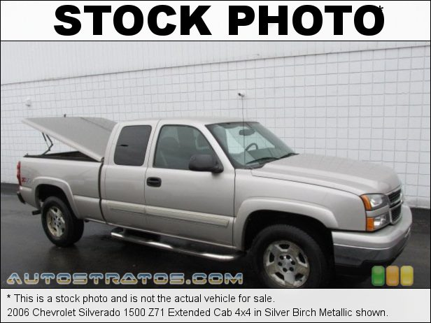 Stock photo for this 2006 Chevrolet Silverado 1500 Extended Cab 4x4 5.3 Liter OHV 16-Valve Vortec V8 4 Speed Automatic