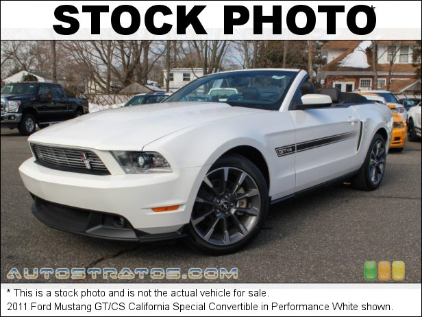 Stock photo for this 2011 Ford Mustang Convertible 5.0 Liter DOHC 32-Valve TiVCT V8 6 Speed Manual