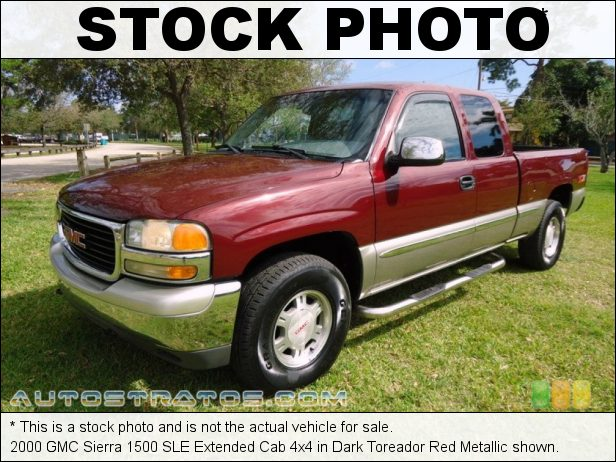 Stock photo for this 2000 GMC Sierra 1500 SLE Extended Cab 4x4 5.3 Liter OHV 16-Valve Vortec V8 4 Speed Automatic