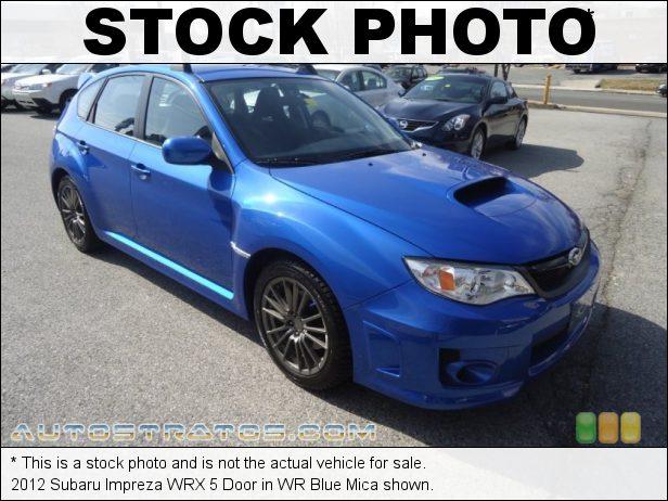 Stock photo for this 2012 Subaru Impreza WRX 5 Door 2.5 Liter Turbocharged DOHC 16-Valve AVCS Flat 4 Cylinder 5 Speed Manual