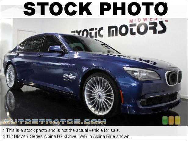 Stock photo for this 2012 BMW 7 Series xDrive 4.4 Liter Alpina DI TwinPower Turbo DOHC 32-Valve VVT V8 6 Speed Automatic