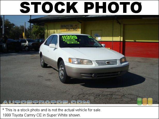 Stock photo for this 1999 Toyota Camry CE 2.2 Liter DOHC 16-Valve 4 Cylinder 5 Speed Manual