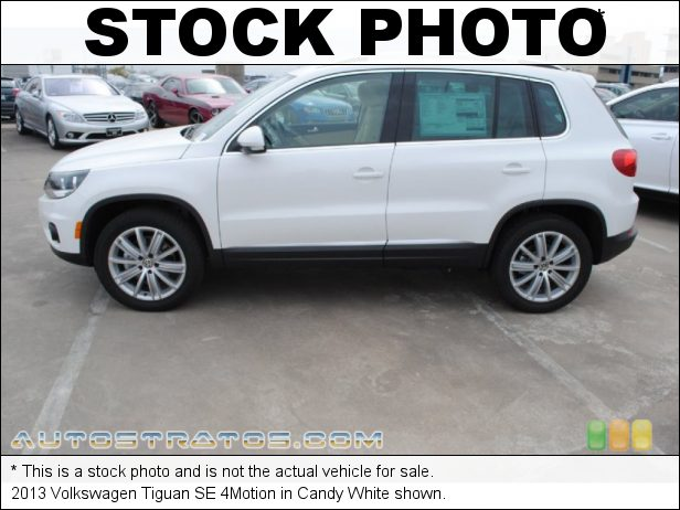 Stock photo for this 2013 Volkswagen Tiguan SE 4Motion 2.0 Liter FSI Turbocharged DOHC 16-Valve VVT 4 Cylinder 6 Speed Tiptronic Automatic