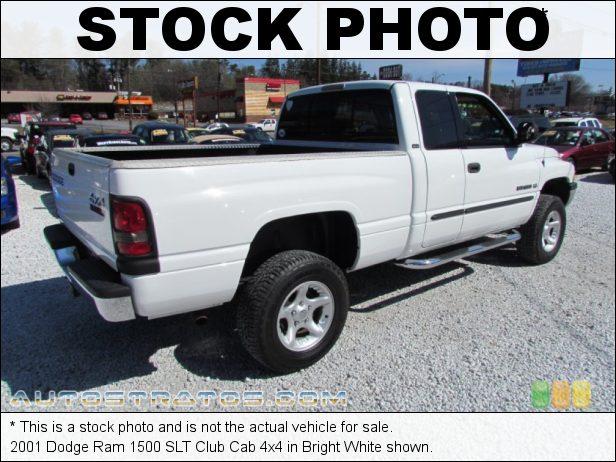 Stock photo for this 2001 Dodge Ram 1500 Club Cab 4x4 5.9 Liter OHV 16-Valve V8 4 Speed Automatic