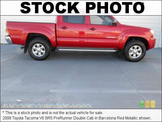 Stock photo for this 2009 Toyota Tacoma V6 PreRunner Double Cab 4.0 Liter DOHC 24-Valve VVT-i V6 5 Speed ECT-i Automatic