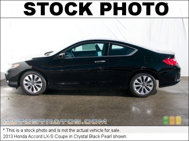 Stock photo for this 2013 Honda Accord LX-S Coupe 2.4 Liter Earth Dreams DI DOHC 16-Valve i-VTEC 4 Cylinder CVT Automatic