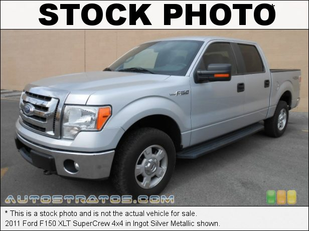 Stock photo for this 2011 Ford F150 XLT SuperCrew 4x4 5.0 Liter Flex-Fuel DOHC 32-Valve Ti-VCT V8 6 Speed Automatic