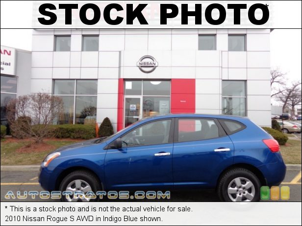 Stock photo for this 2010 Nissan Rogue S AWD 2.5 Liter DOHC 16-Valve CVTCS 4 Cylinder Xtronic CVT Automatic