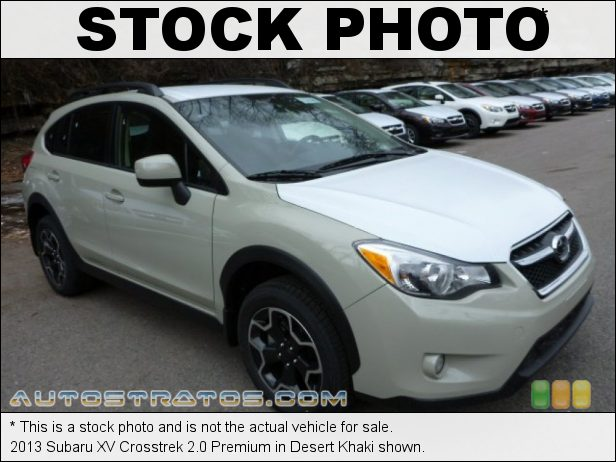 Stock photo for this 2013 Subaru XV Crosstrek 2.0 Premium 2.0 Liter DOHC 16-Valve DAVC Flat 4 Cylinder Lineartronic CVT Automatic