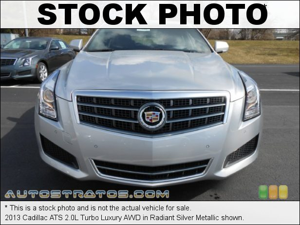 Stock photo for this 2013 Cadillac ATS 2.0L Turbo Luxury AWD 2.0 Liter DI Turbocharged DOHC 16-Valve VVT 4 Cylinder 6 Speed Hydra-Matic Automatic