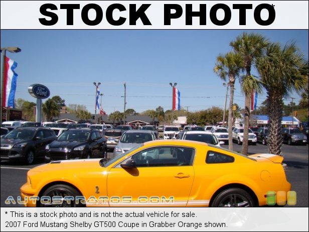 Stock photo for this 2007 Ford Mustang Shelby GT500 Coupe 5.4 Liter Supercharged DOHC 32-Valve V8 6 Speed Manual