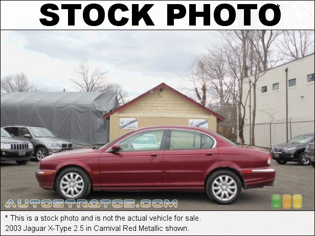 Stock photo for this 2003 Jaguar X-Type 2.5 2.5 Liter DOHC 24 Valve V6 5 Speed Automatic