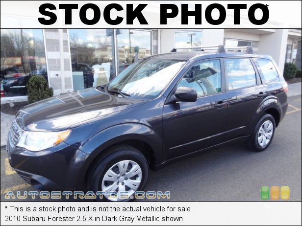 Stock photo for this 2010 Subaru Forester 2.5 X 2.5 Liter SOHC 16-Valve VVT Flat 4 Cylinder 4 Speed Sportshift Automatic