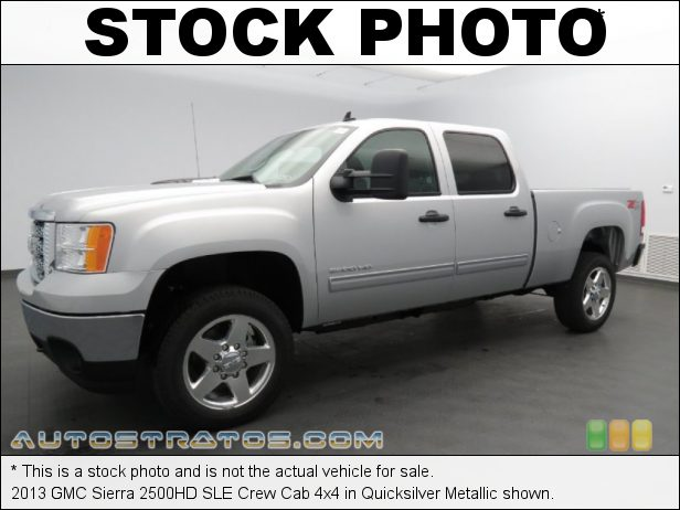 Stock photo for this 2013 GMC Sierra 2500HD SLE Crew Cab 4x4 6.6 Liter OHV 32-Valve Duramax Turbo-Diesel V8 6 Speed Automatic