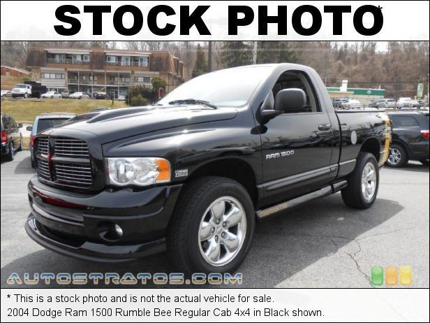 Stock photo for this 2004 Dodge Ram 1500 Regular Cab 4x4 5.7 Liter HEMI OHV 16-Valve V8 5 Speed Automatic